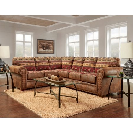 American Furniture Classics Model B1650k Sierra Lodge Two Piece Sectional Sofa