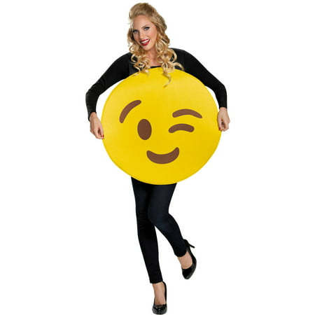 Wink Emoticon Neutral Adult Halloween Costume for $<!---->