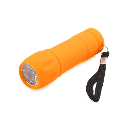 Yellow ABS Plastic 9 LEDs Torch Light Emergency Compact Handheld Lamp for