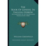 The Book of Genesis, in English-Hebrew (Paperback)