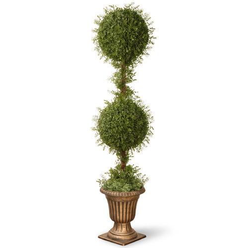 "60"" Artificial Mini Tea Leaf Two-Ball"
