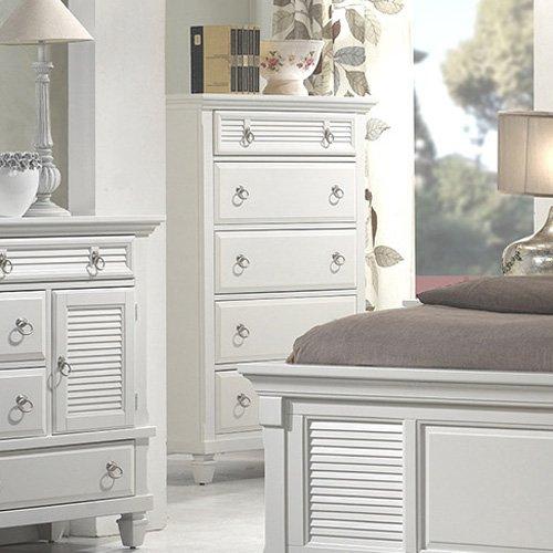Alpine Furniture Winchester 5-Drawer Chest - White