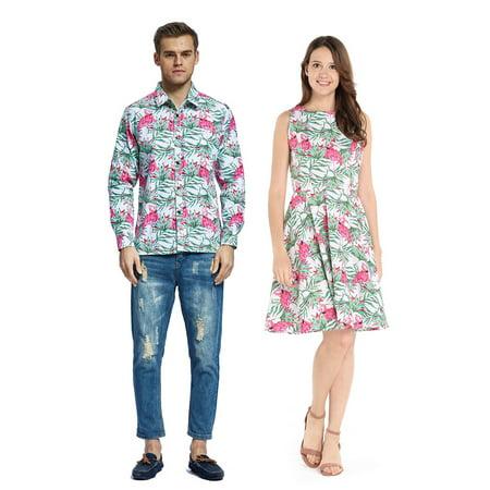 1fdea3d9 Hawaii Hangover - Couple Matching Hawaiian Luau Cruise Outfit Shirt ...
