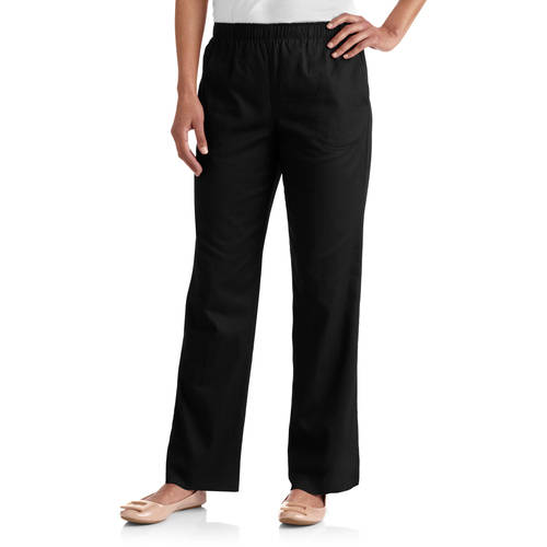 White Stag Women's Elastic Waistband Woven Pull-On Pants available in Regular and Petite