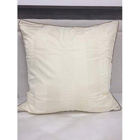Nautica Stanhope Euro Pillow Sham, Ivory 26X26 ()