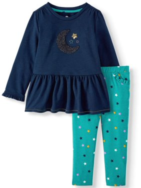 Wonder Nation Toddler Girl Peplum Set