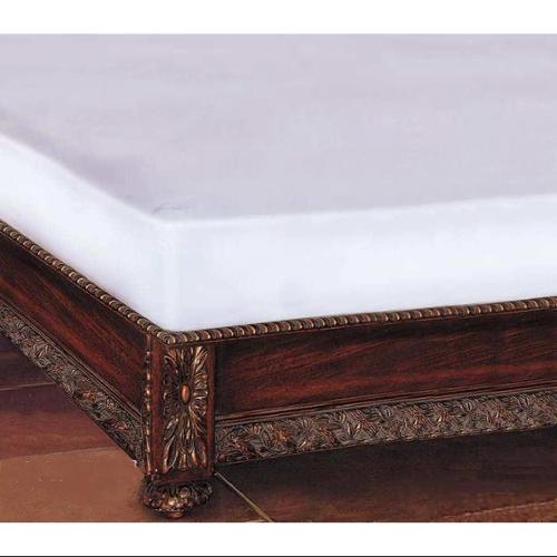 White Vinyl Mattress Cover with Elastic Edges (Twin Bed Cover)