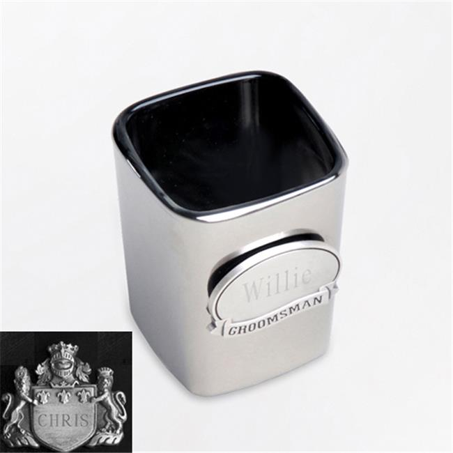JDS Marketing and Sales BL822coatofarms Gunmetal Shot Glass with Coat of Arms Medallion