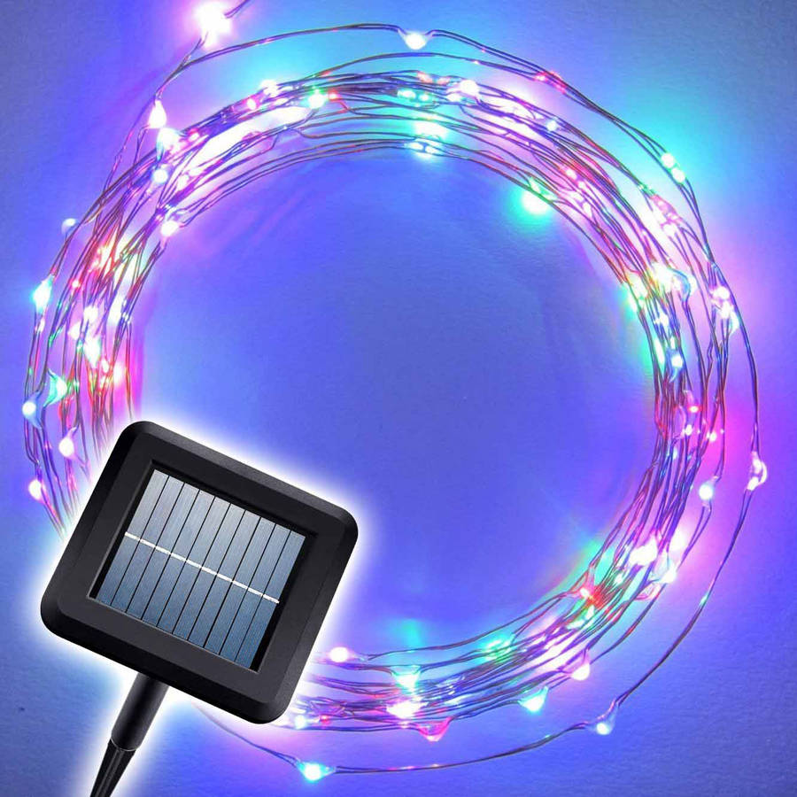 Brightech The Original Starry Solar String Lights, 20' LED Light String Set with Solar Panel