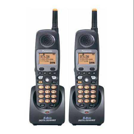 Panasonic KX-TGA450B (2-Pack) 5.8GHz Cordless Handset by