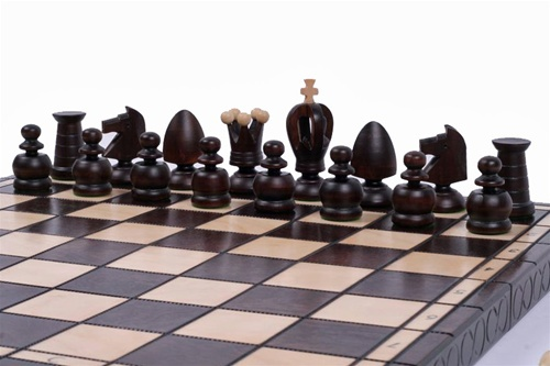 "The Volkh Unique Wood Chess Set with Board and Storage, King 3.25"" by"
