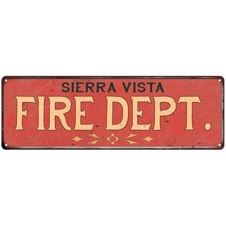 Sierra Vista Fire Dept  Vintage Look Metal Sign Chic Decor Retro 6185091