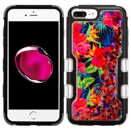 f83556c645 iPhone 8 Plus Case, iPhone 7 Plus Case, by Insten Black TUFF Quicksand  Glitter ...