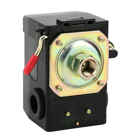 Low Switch Pressure Switch - Practical Air Compressor Pressure Switch 95-125PSI 120V/240V 26FLA/156LRA