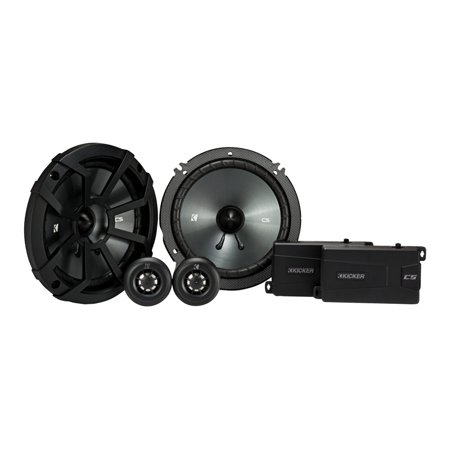 Kicker CSS65 6.5-INCH (160mm) COMPONENT SYSTEM WITH .75-INCH (20mm) TWEETER, PAIR, 4-OHM,