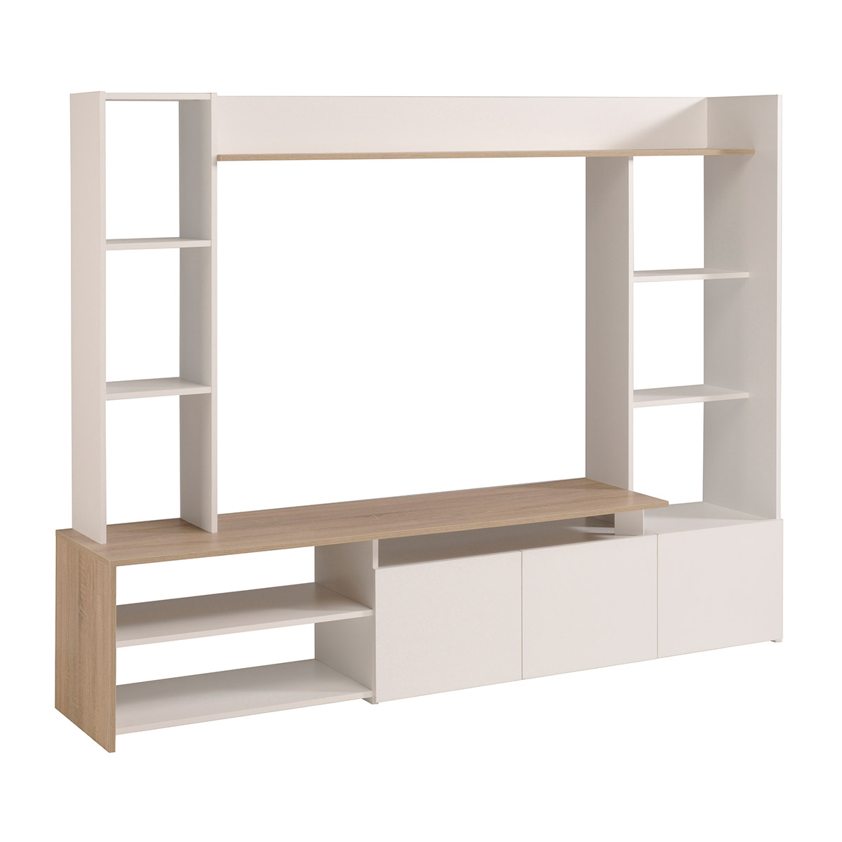 Up TV Wall Unit with 3 Doors