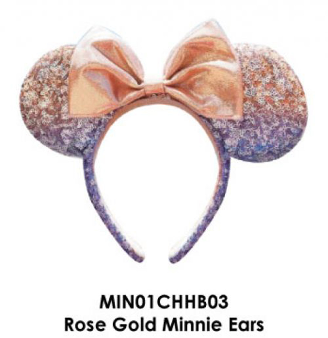 Gold Sequin Mouse Ears HAT