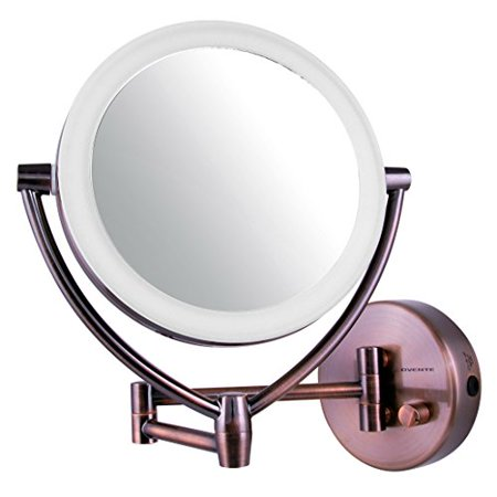 Ovente Led Lighted Wall Mount Makeup Mirror 7 5 Inch
