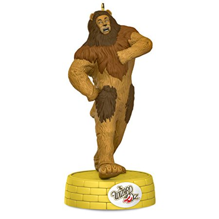 Hallmark Keepsake 2017 THE WIZARD OF OZ COWARDLY LION If I Only Had the Nerve Musical Christmas Ornament - Musical Christmas Ornaments