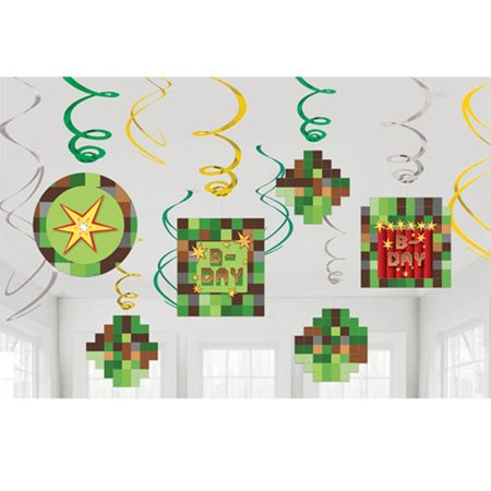Minecraft '' Hanging Swirl Decorations (12ct) By TNT Party
