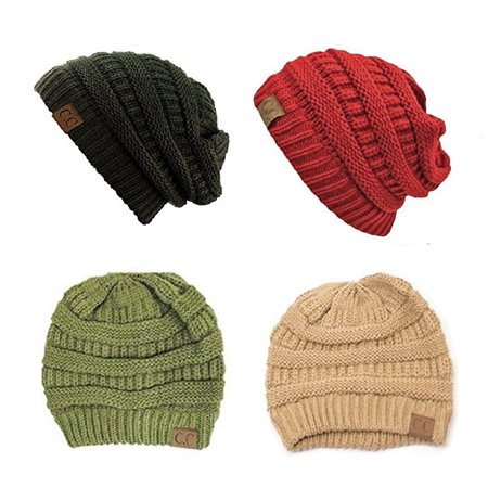 c0e2416059b C.C - Trendy Warm Chunky Soft Stretch Cable Knit Slouchy Beanie Skully  HAT20A (One Size
