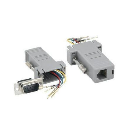 3 Rj12 Keystone Jack - Kentek D-Sub Modular Adapter DB9 Male to RJ12 RJ-12 Female M/F Serial Jack Plug Phone Telecom PC