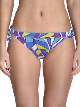 f220bc5ccb57a Product Image Leilani Womens Sea Glass Printed Side Tie Swim Bottom  Separates