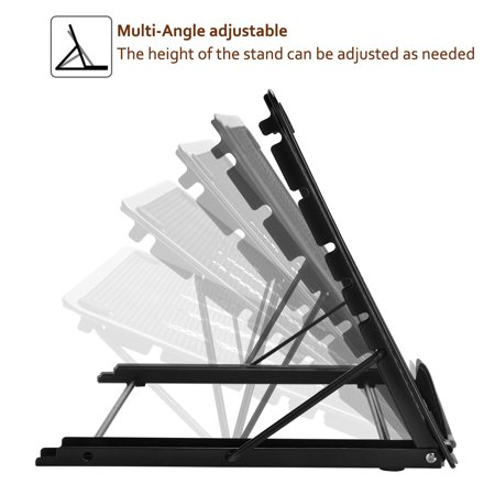 Mesh Laptop Stand (Ventilated Metal-mesh Adjustable Stand,for Laptop tracing pad Tablet Notebook foldable design)