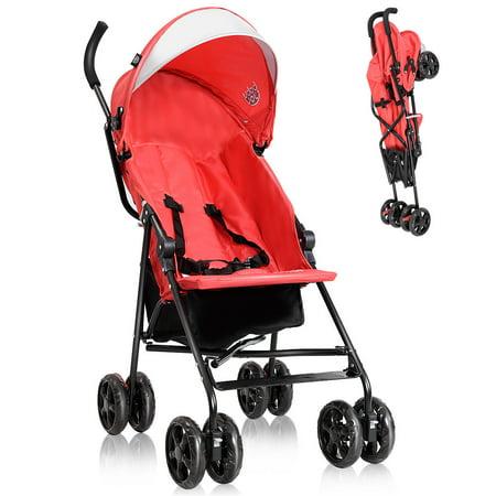 Travel Stroller (Costway Lightweight Umbrella Baby Stroller Toddler Travel Sun Canopy Storage Basket )