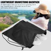ANGGREK Bag Sack ,Waterproof Drawstring Backbag Outdoor Travel Sports Gym Storage Bag for Men and Women,Drawstring Backpack