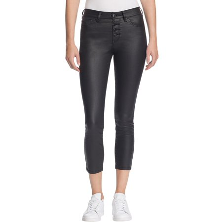 Res Denim Womens Kitty Coated Cropped Skinny