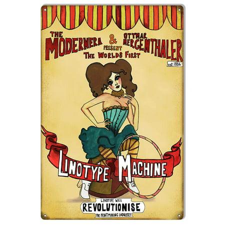 Revolutionise Linotype Machine Nostalgic Sign 12