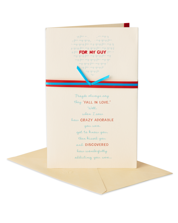 Incredible American Greetings My Guy Romantic Birthday Card For Him Walmart Personalised Birthday Cards Paralily Jamesorg