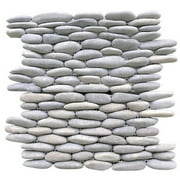 """Rainforest Light Grey Stacked Stone Pebble Wall Tile 12"""" x 12"""" (5.0 sq. ft. / case)"""