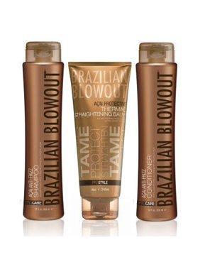 Brazilian Blowout Anti Frizz Shampoo Conditioner Duo with Balm 3 Piece Set