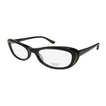 New Oliver Peoples Margriet Womens/Ladies Cat Eye Full-Rim Black / Gold Beautiful Cat Eyes Frame Demo Lenses 50-18-137 Eyeglasses/Eyeglass Frame