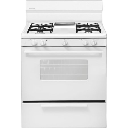 FFGF3005MW 30 Freestanding Gas Range with 4 Open Burners 4.2 cu. ft. Oven Capacity Broiler Drawer and Electronic Ignition and Interior Light in White