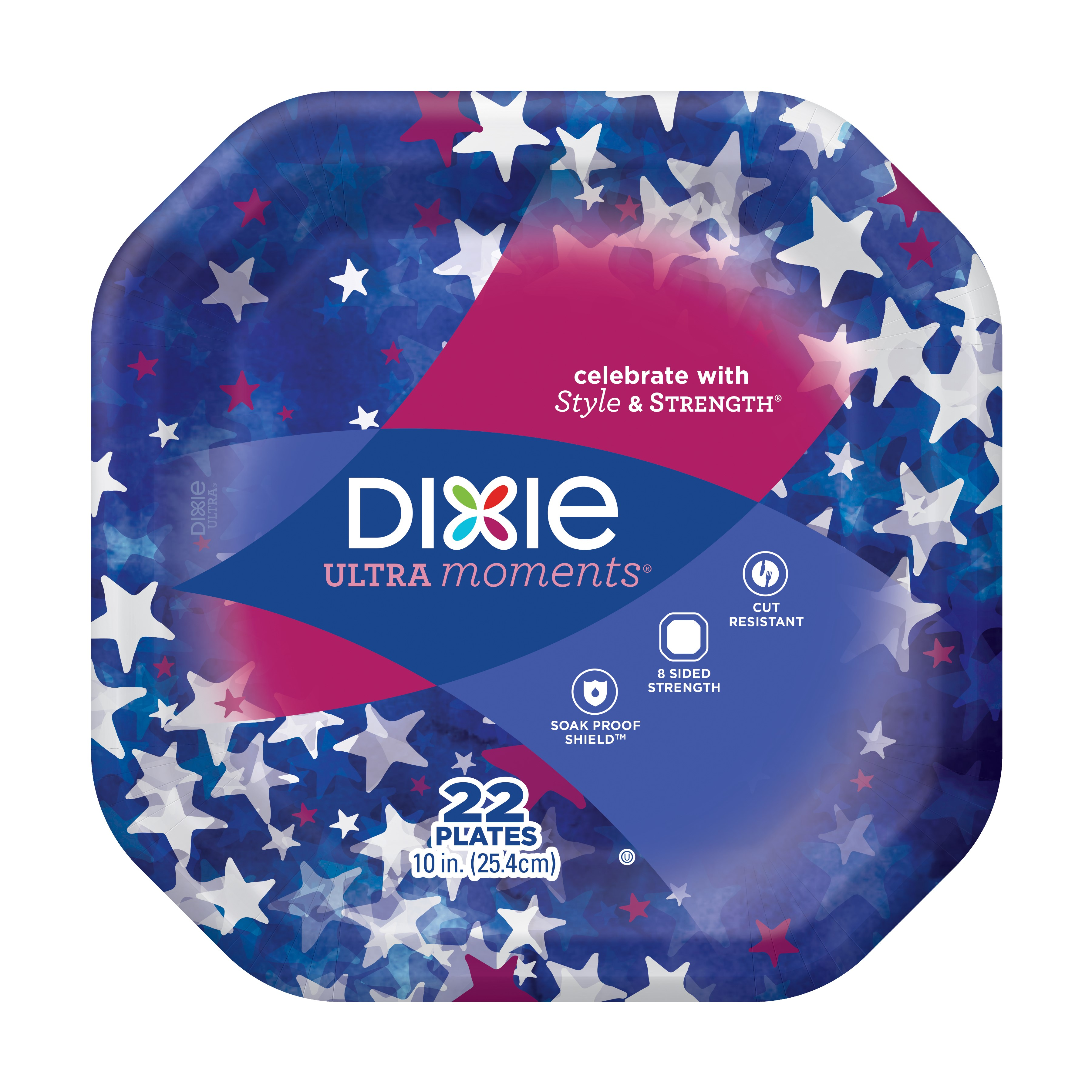"Dixie Ultra Moments Paper Plates, 10"", 22 Count"