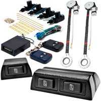 Biltek 2x Door Car Power Window + Keyless Door Unlock Kit For Pontiac / Subaru Matiz Safari Sunbird Sunfire Baja