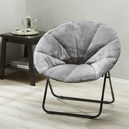 Admirable Mainstays Folding Plush Saucer Chair Multiple Colors Forskolin Free Trial Chair Design Images Forskolin Free Trialorg