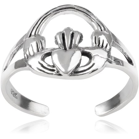 Brinley Co. Women's Sterling Silver Claddagh Toe Ring