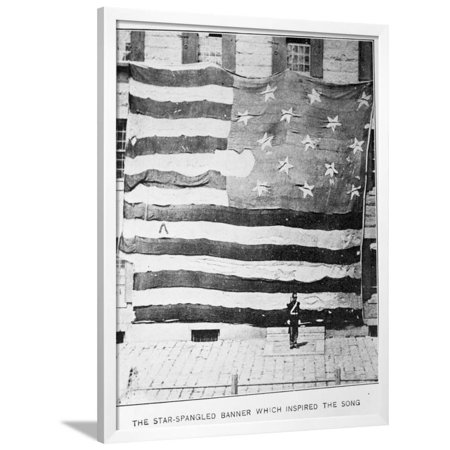 Fort Mchenry Battle Flag at Boston Navy Yard Framed Print Wall - Party City Mchenry