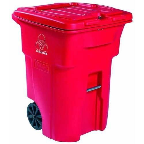 Toter Regulated Medical Waste 2-Wheel Cart, 96 Gallon