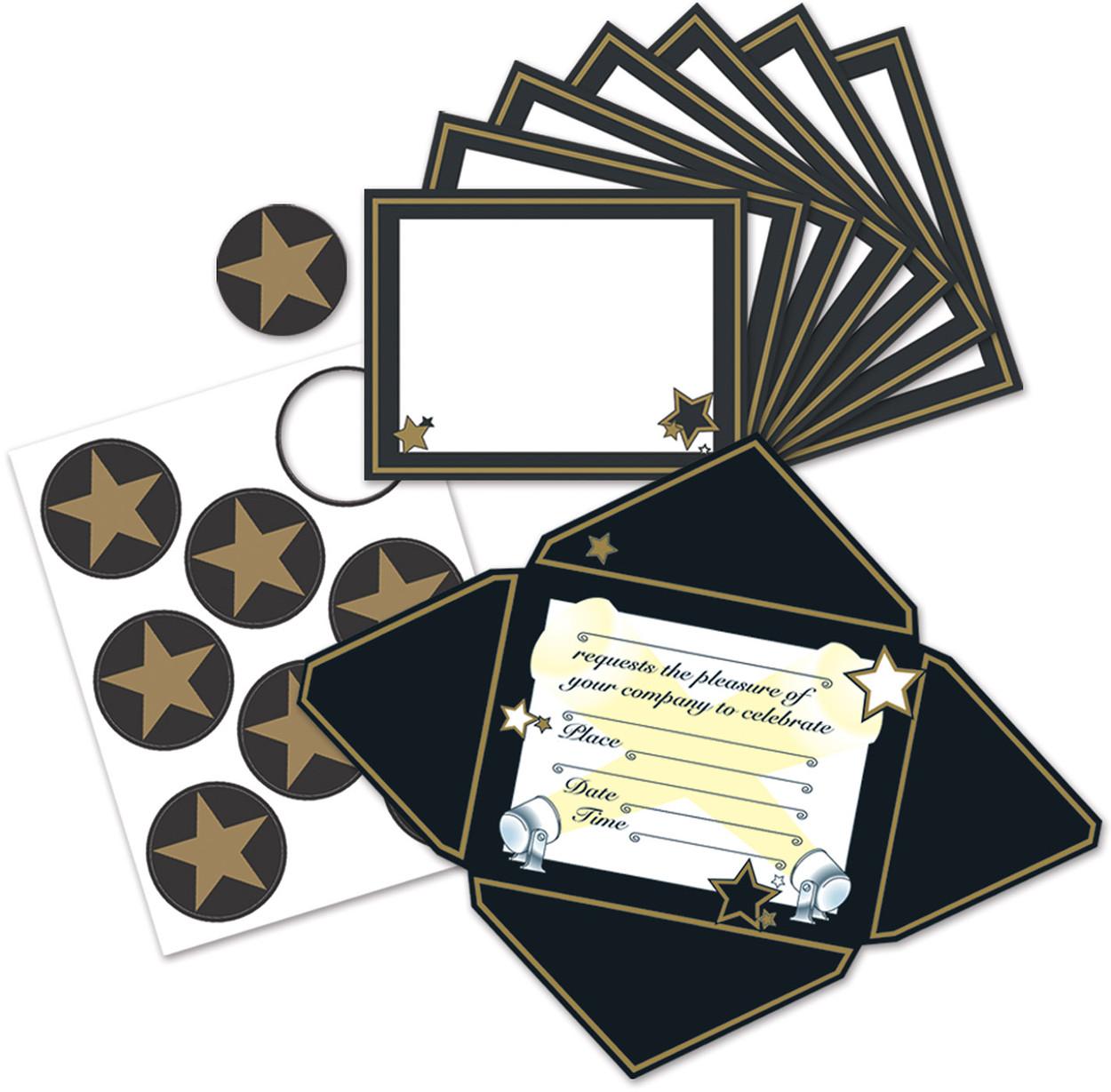 Awards Night Party Celebration Invitation Cards And Stickers Set Decoration