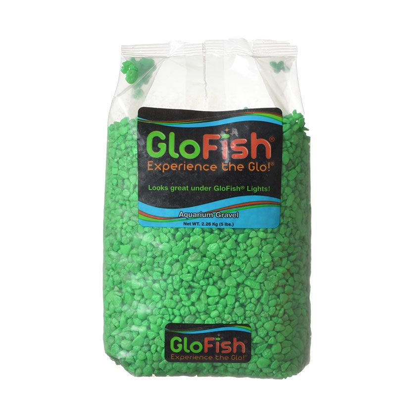 GloFish Aquarium Gravel - Green 5 lbs - Pack of 6
