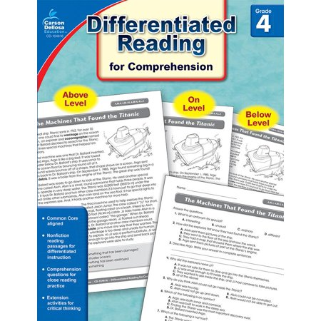 Common Core Differentiated Reading Comprehension, Grade 4