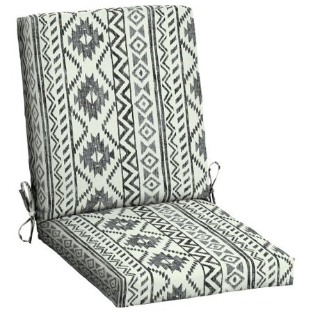 18w Outdoor Patio Cushion (Mainstays Black and White Tribal 43 x 20 in. Outdoor Dining Chair)