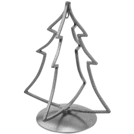 Black Tone Iron Metal 3D Christmas Tree Metal Ornament Stand 12 Inches ()