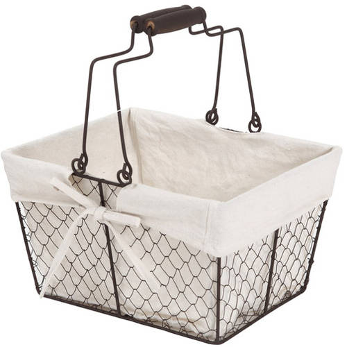 Better Homes and Gardens Small Chicken Wire Basket, Black
