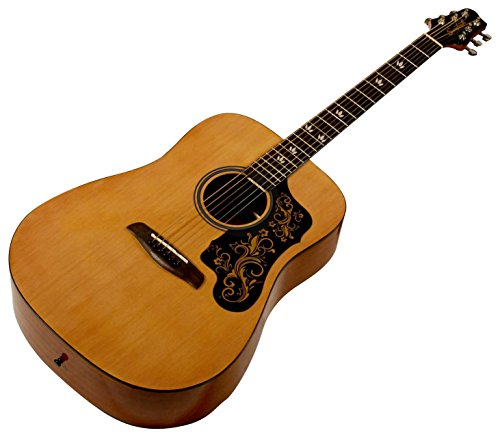 Sawtooth Acoustic Guitar With Black Pickguard W Custom Graphic